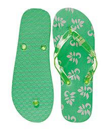 Badeschuhe Muster grün