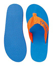 Badeschuhe Blau Orange